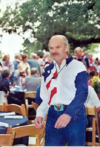 Henry Mark Holzer at the River Rats/Nam Pows Reunion in  Fort Worth, Texas, 2002.